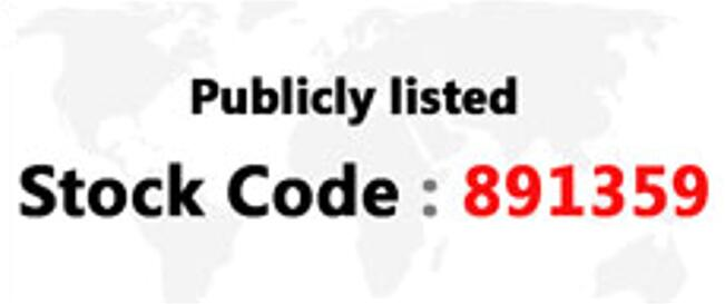 Publicly listed Stock Code: 891359